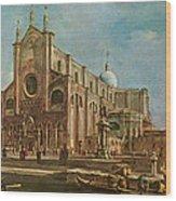 Campo Dei Santi Giovanni E Paolo And The Scuola Grande Di San Marco, Venice Oil On Canvas Wood Print