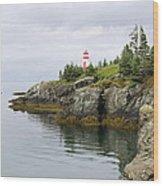 Campobello Island -  East Quoddy Lightstation Wood Print