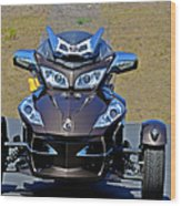 Can-am Spyder - The Spyder Five Wood Print by Christine Till