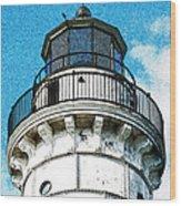 Cana Island Lighthouse Tower Wood Print