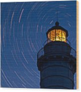 Cana Island Lighthouse Solstice Wood Print
