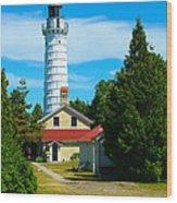 Cana Island Wi Lighthouse Wood Print