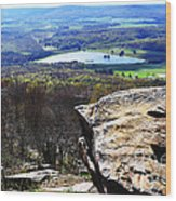 Canaan Valley From Valley View Trail Wood Print by Thomas R Fletcher
