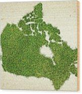 Canada Grass Map Wood Print