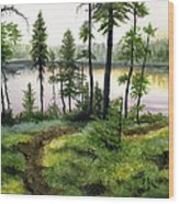 Canada Morning Wood Print