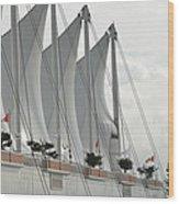 Canada Place Sails Wood Print