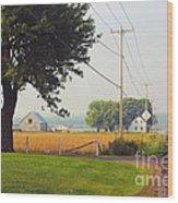 Canada Rural Scene Wood Print