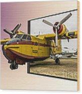 Canadair 3d Wood Print