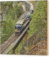 Canadan Railroad Above The Cheakamus River Wood Print