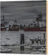Canadian And United States Icebreakers Wood Print