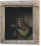 Canadian Army Soldier Conducts Military Wood Print by Stocktrek Images