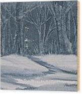 Canadian Backyard Wood Print