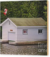 Canadian Boathouse  Wood Print