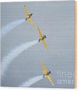 Canadian Flying Trio Wood Print