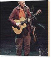 Canadian Folk Rocker Bruce Cockburn In 2002 Wood Print