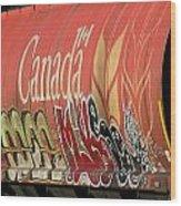 Canadian Graffitti Wood Print
