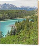 Canadian Highway Lake Wood Print
