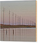 Canadian Hole Outer Banks At Sunset Wood Print