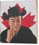 Canadian Icon Stompin' Tom Conners  Wood Print