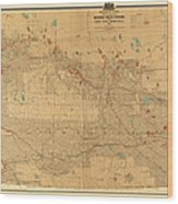 Canadian Mounted Police Map Wood Print