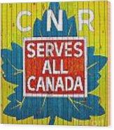 Canadian National Railway Stamp Wood Print
