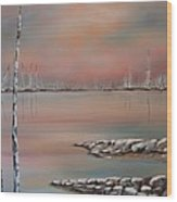 Canadian Northern Reflections Wood Print by Beverly Livingstone