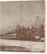 Canadian Pacific In Banff  Wood Print