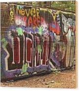 Canadian Pacific Train Wreck Graffiti Wood Print