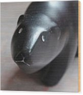 Canadian Polar Bear Carving Wood Print