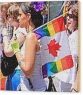 Canadian Rainbow Wood Print