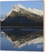Canadian Rockies Mount Rundle 1 Wood Print