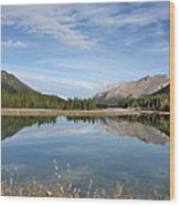 Canadian Rocky Mountains With Lake  Wood Print