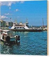 Canakkale Ferry Dock-turkey Wood Print