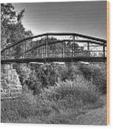 Canal Bridge Wood Print