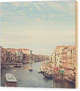 Canal Grande In Venezia Wood Print
