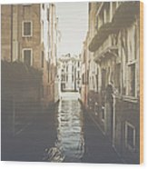Canal In Venice Italy Applying Retro Instagram Style Filter Wood Print
