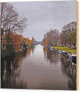 Canal Of Amsterdam Wood Print