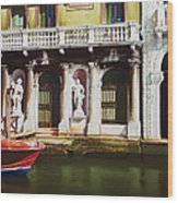 Canal Scene  Venice Italy Wood Print
