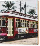 Canal Street Car Wood Print by Bill Cannon