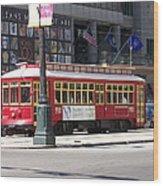 Canal Street Streetcar Wood Print