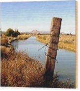 Canal View  Mesilla Wood Print