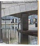 Canal Walk Wood Print
