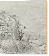 Canaletto Italian, 1697 - 1768, Landscape With A Woman Wood Print
