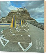Canarian Loungers  Wood Print
