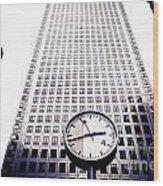 Canary Wharf Clock Wood Print