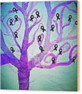 Cancer Survivors' Tree Wood Print