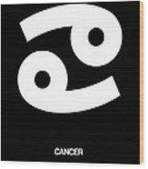 Cancer Zodiac Sign White Wood Print