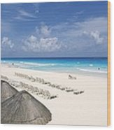 Cancun Beach Wood Print