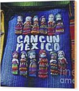 Cancun Souvenirs Mexico Wood Print