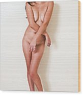 Candace In Heels Only Wood Print